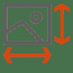 Bildgröße-Kantenlänge - Icon