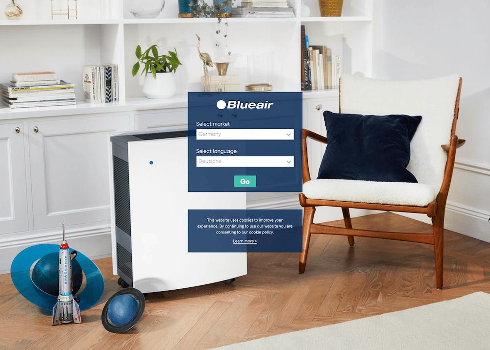 Blueair x-default-Seite