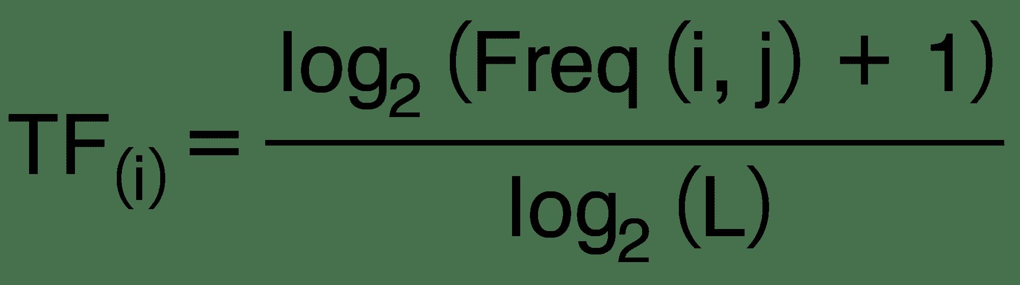 Formel zur Berechnung der Termfrequenz (TF)