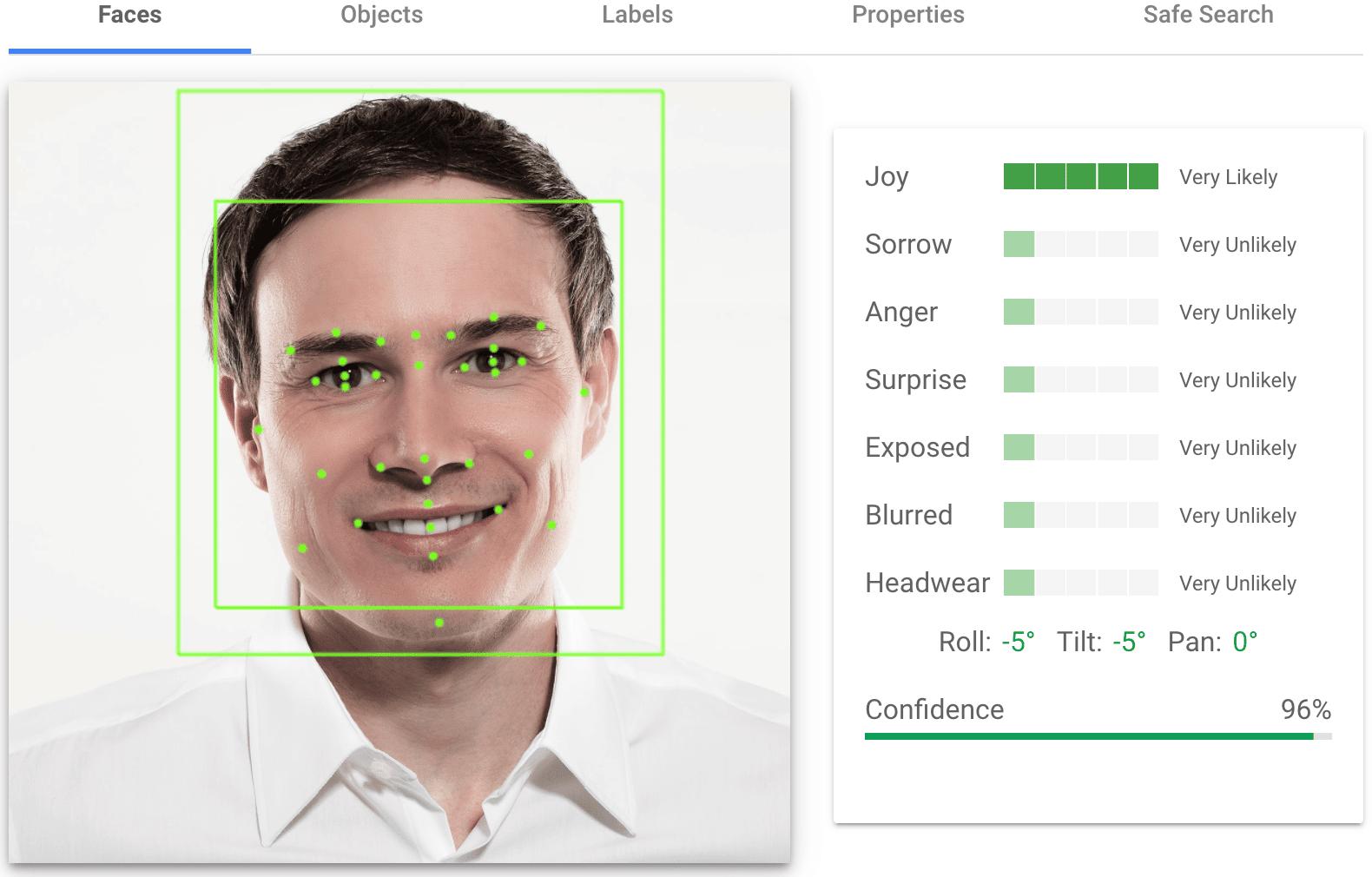 Google Vision AI Bilderkennung