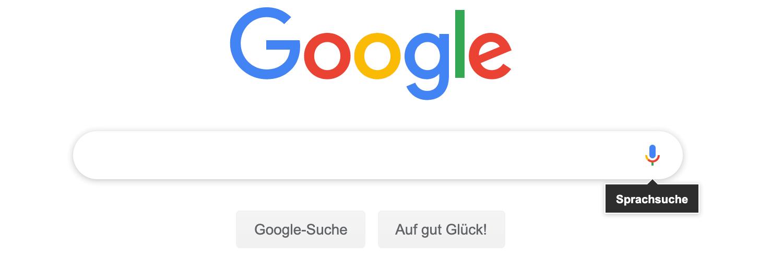Google Suche: Sprachsuche (Voice search)