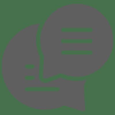 Icon: Kontakt aufnehmen - Sprechblasen