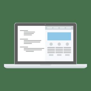 Laptop-PC mit Daten - Illustration