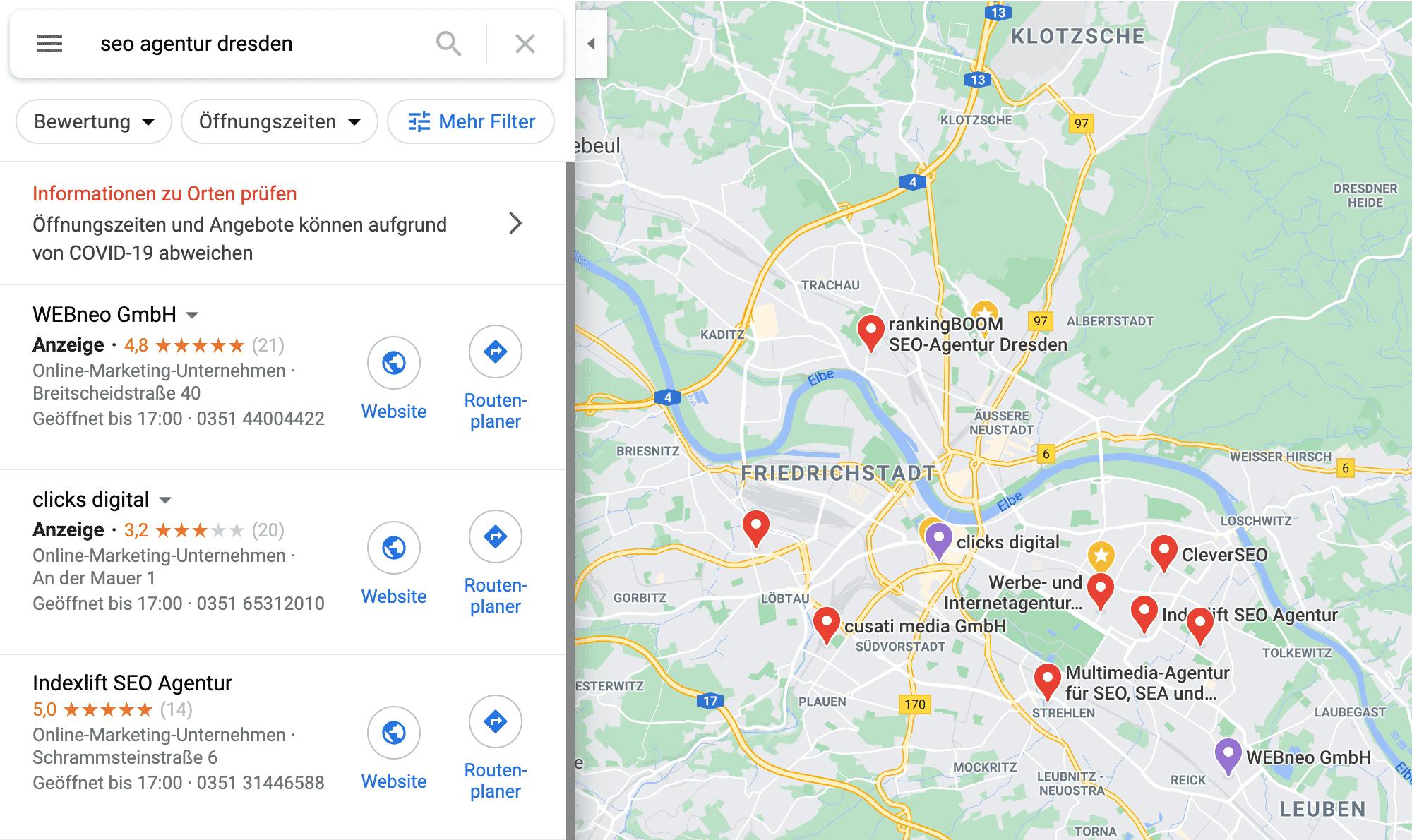 Local Finder-Beispiel