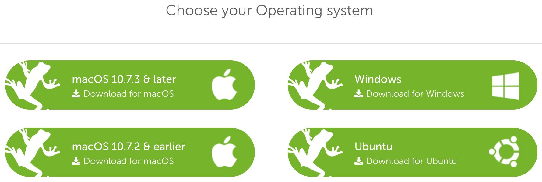 Screaming Frog wird für verschiedene Systeme angeboten