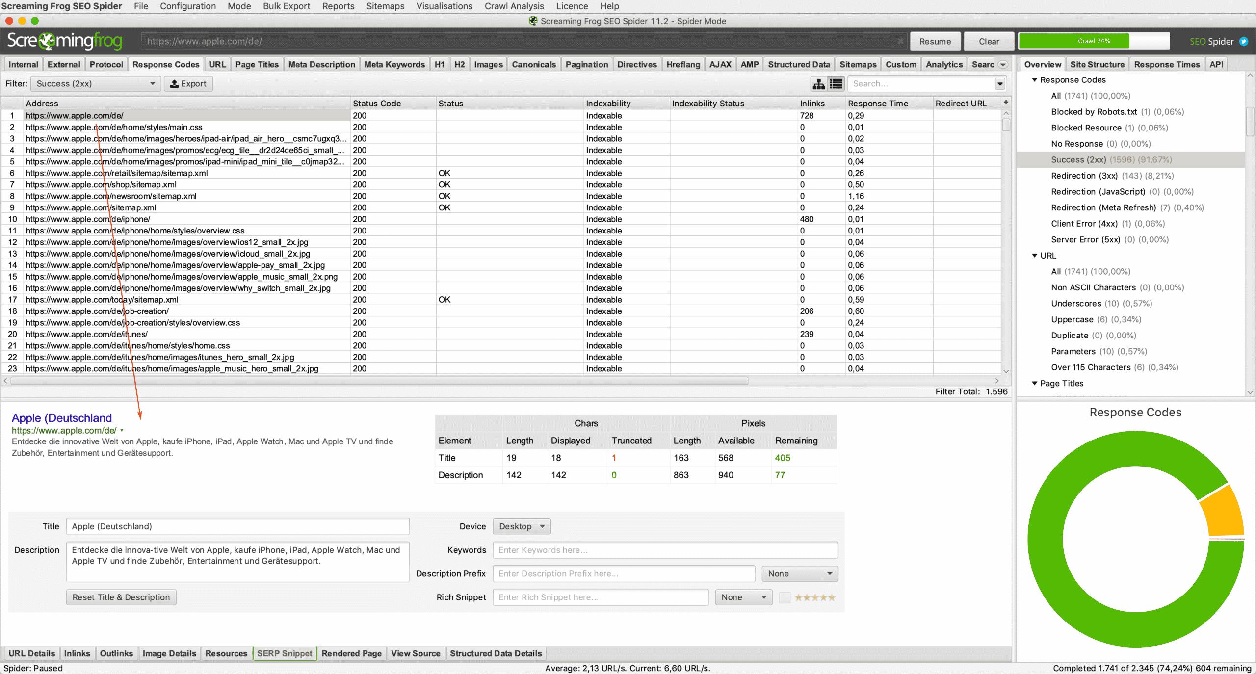 Mit dem SERP Snippet-Tool können verschiedene Optimierungen getestet werden