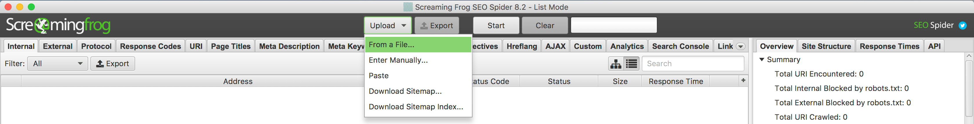 XML Sitemap validieren // Screaming Frog