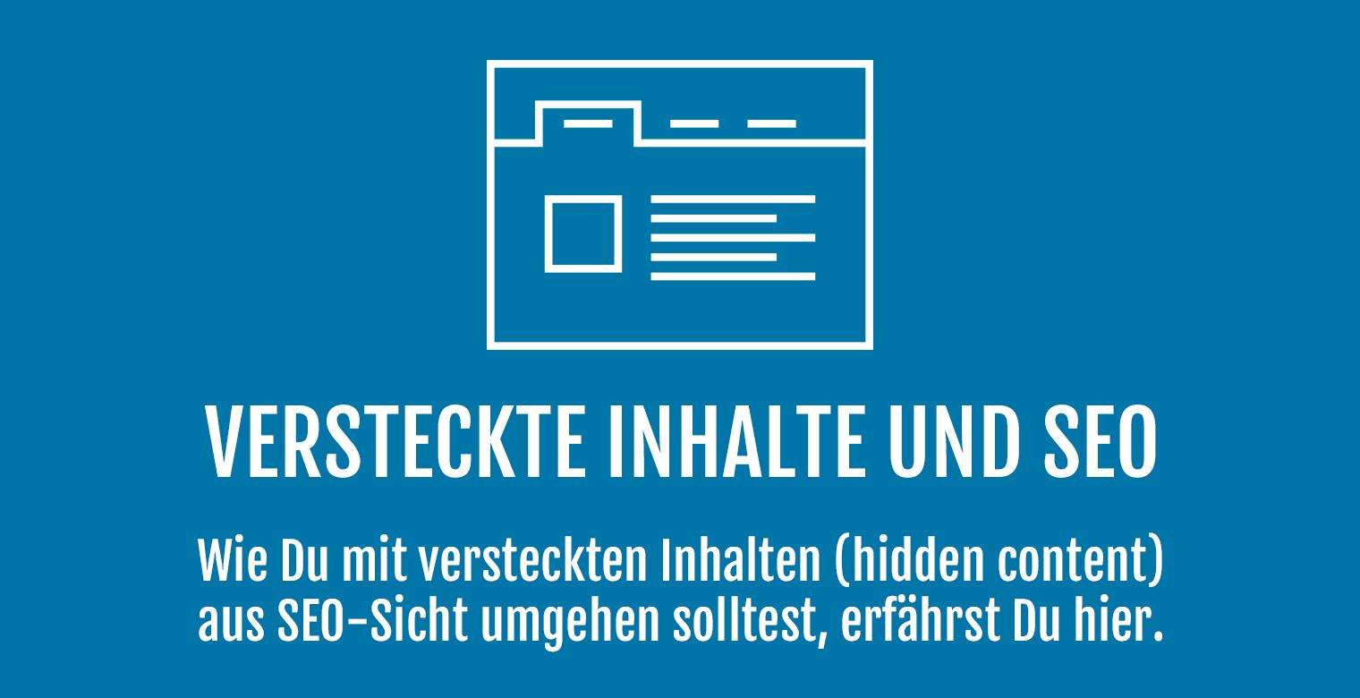 Versteckte Inhalte (hidden content) und SEO - Header