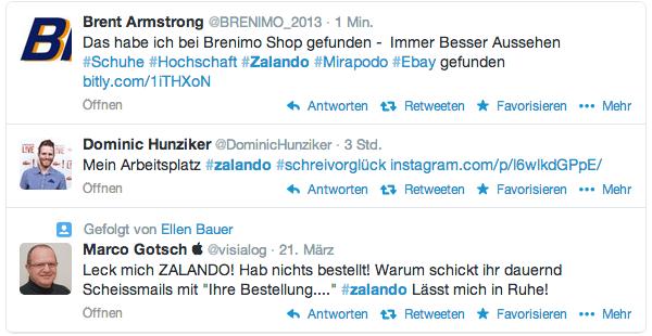 Zalando User-Tweets